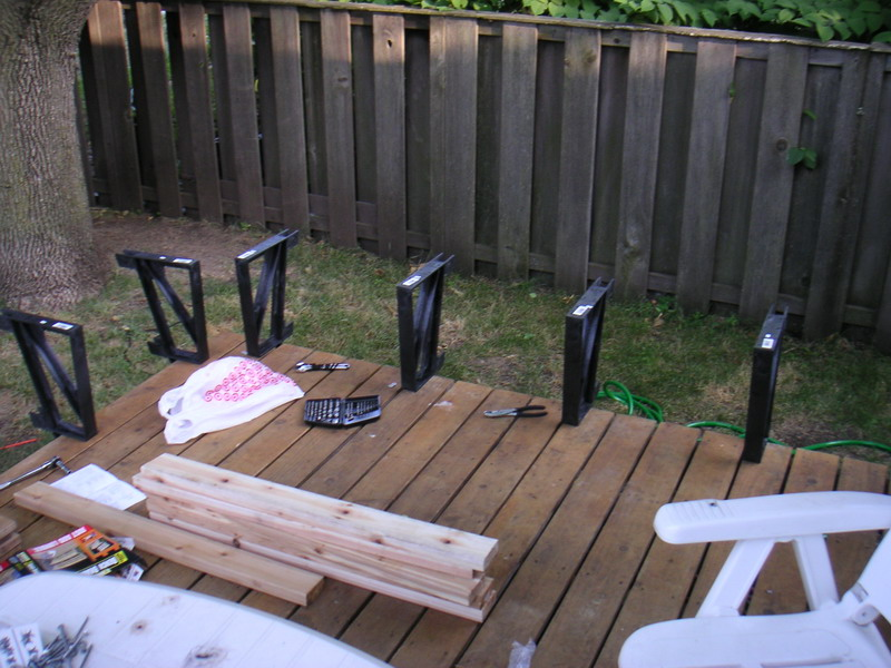 composite deck bench brackets