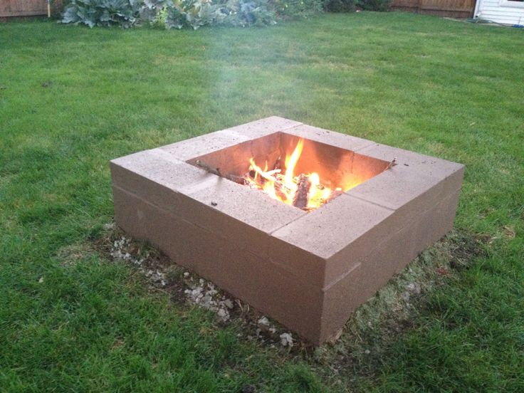 concrete block fire pit plans design and ideas