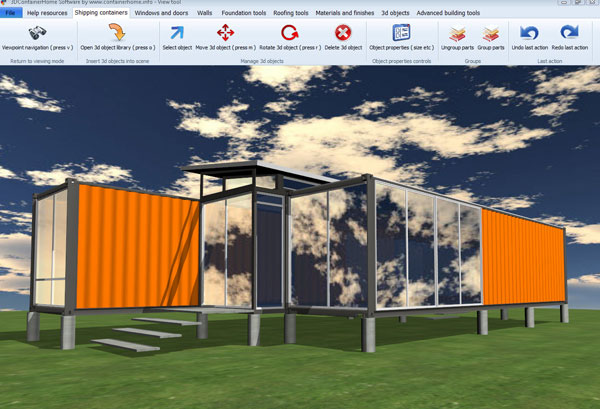 Container home design and construction design and ideas for Container home design software