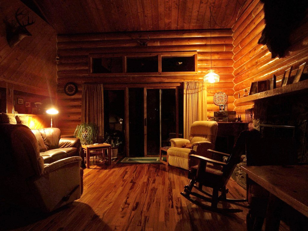 Cool Log Cabin Interiors