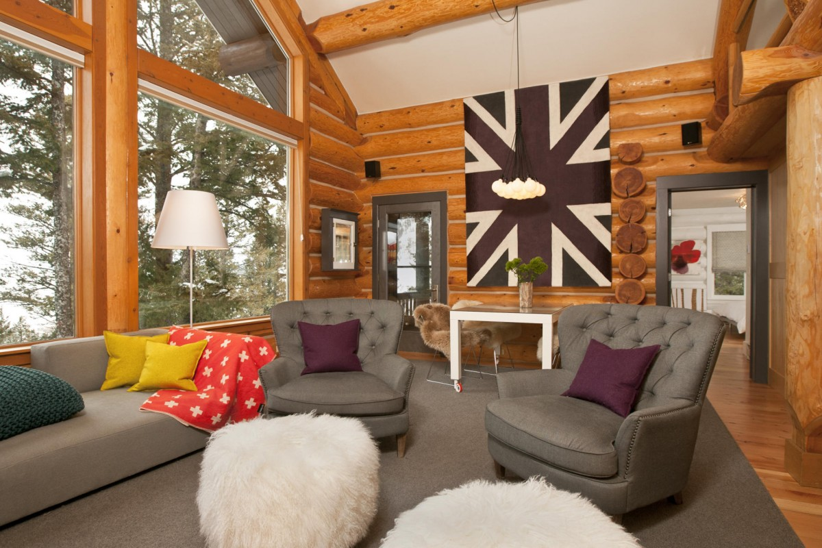 Cool Log Cabin Interiors Photo   2
