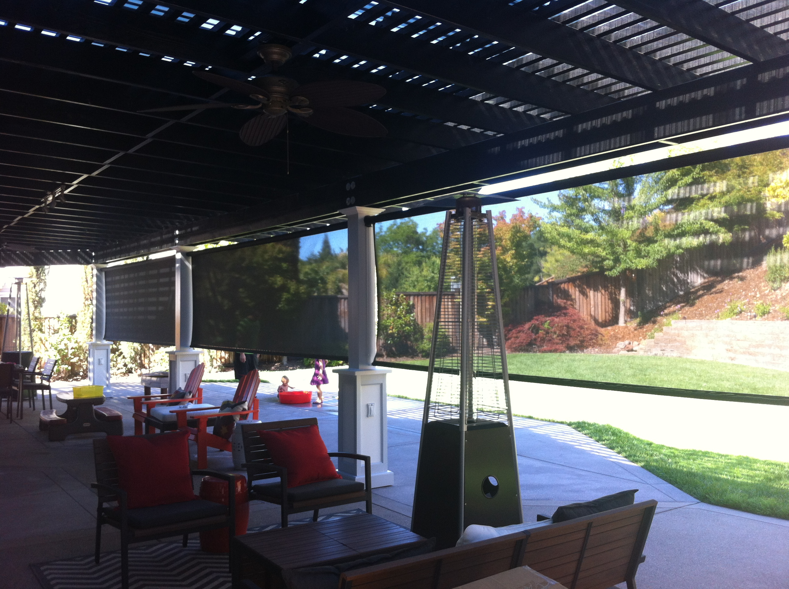 Cool Patio with Outdoor Patio Shades Design and Ideas
