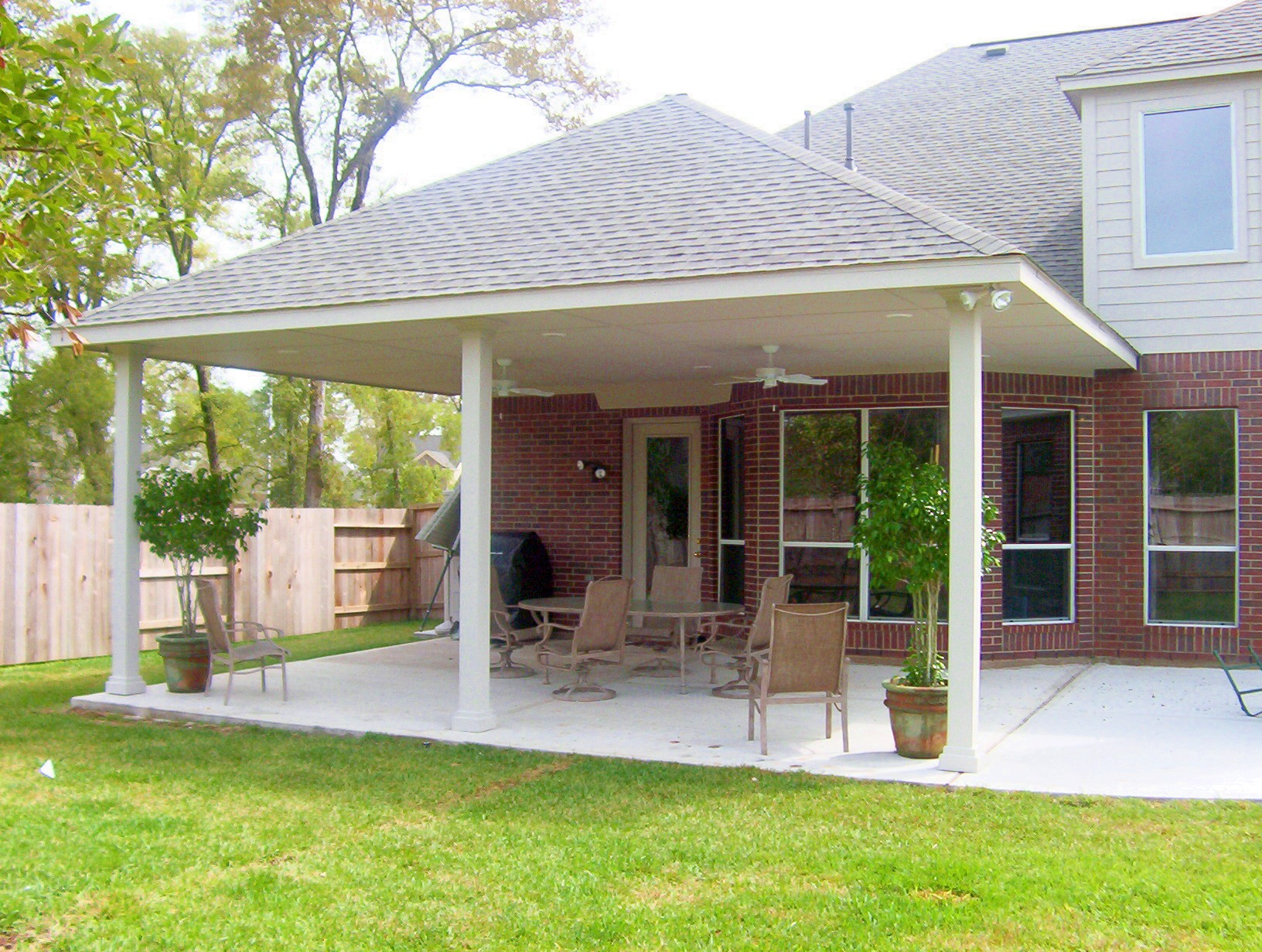 Stand alone covered patio plans design and ideas for Patio house plans