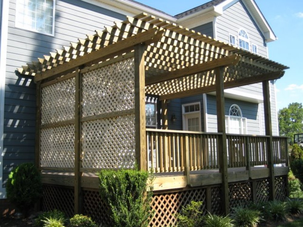 Black Deck Lattice 187 Design And Ideas