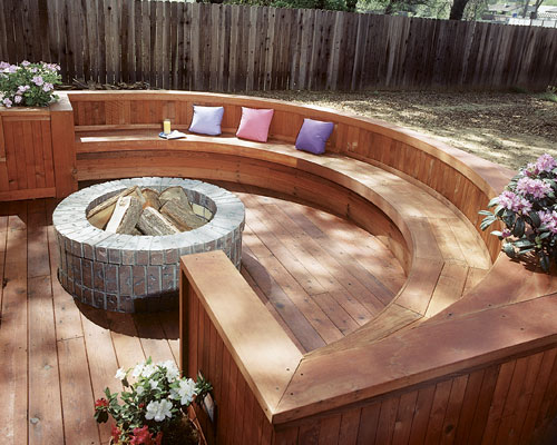 deck fire pit ideas Design and Ideas