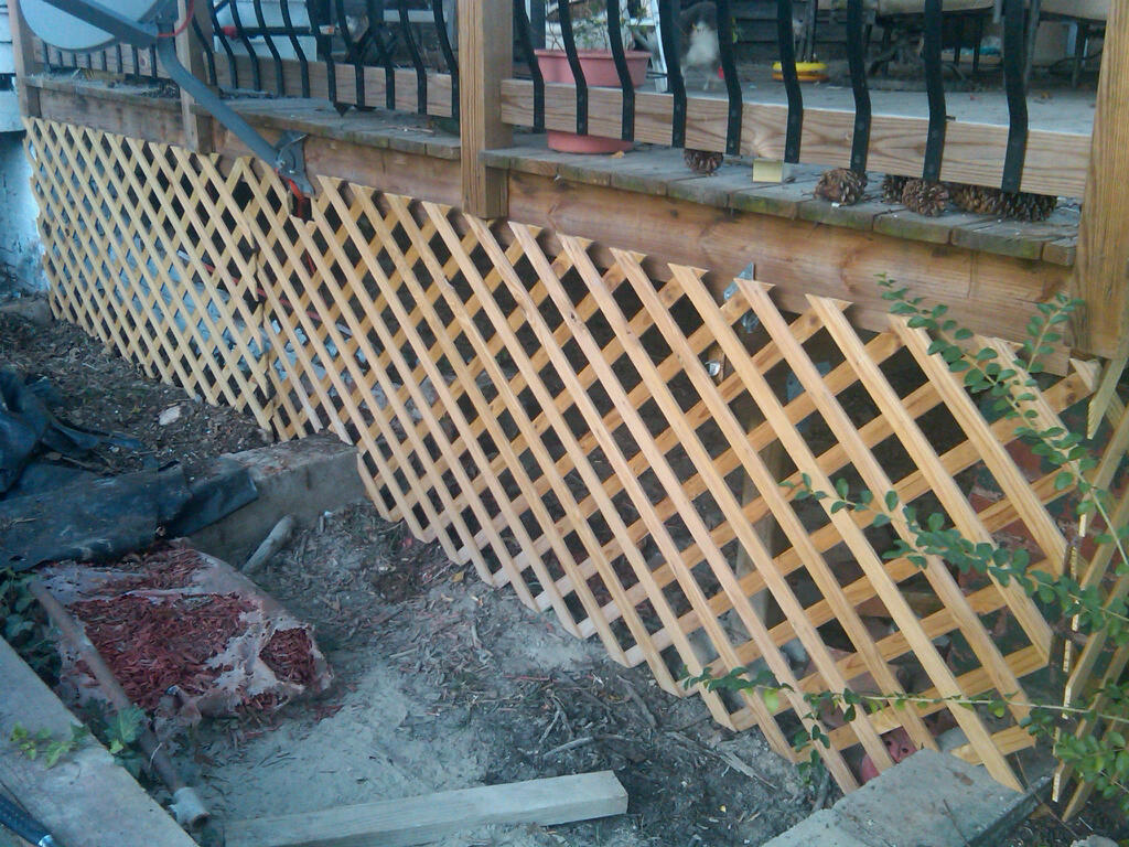 Building deck lattice design and ideas for Cheapest way to put in a pool