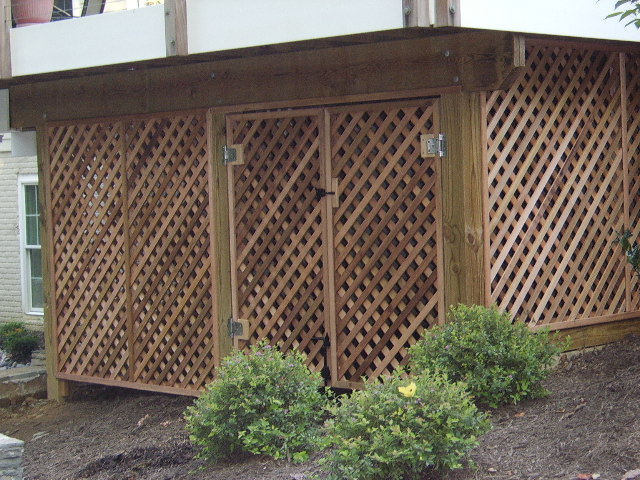 deck lattice door photo - 3 & deck lattice door » Design and Ideas