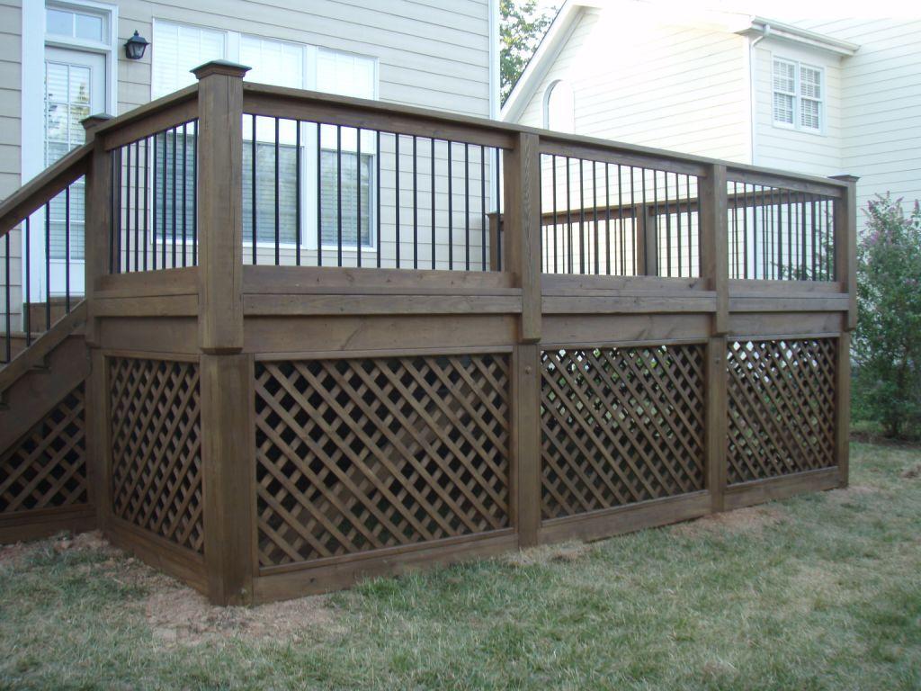Deck lattice install design and ideas for Lattice ideas