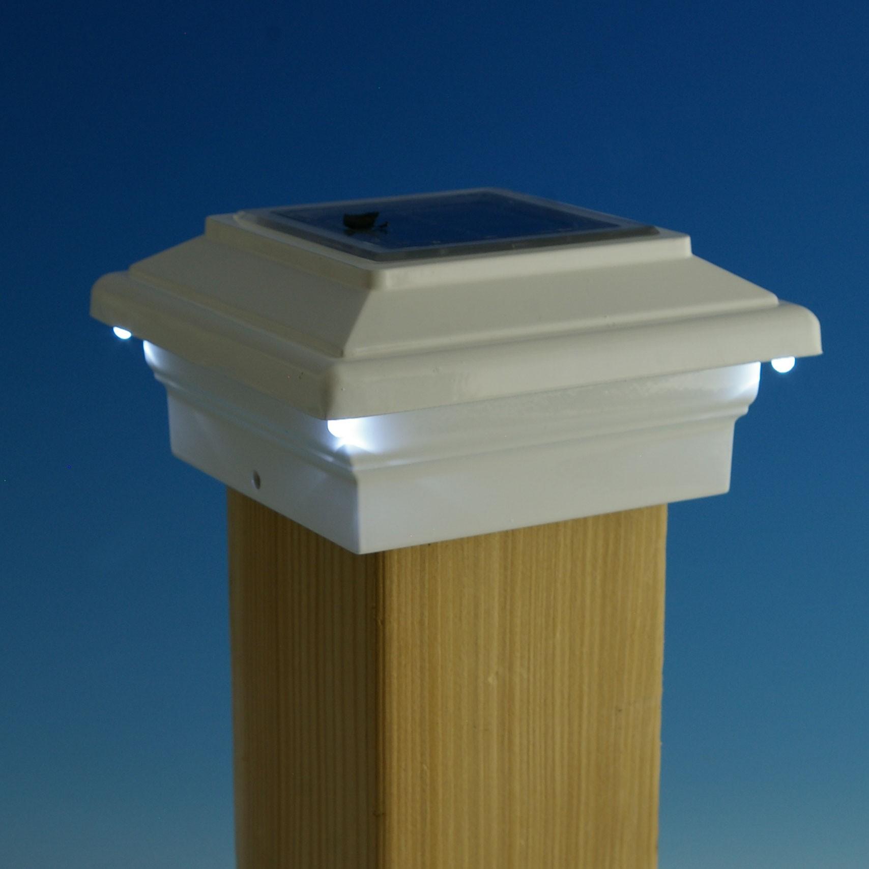 solar deck post lights lowes design and ideas. Black Bedroom Furniture Sets. Home Design Ideas