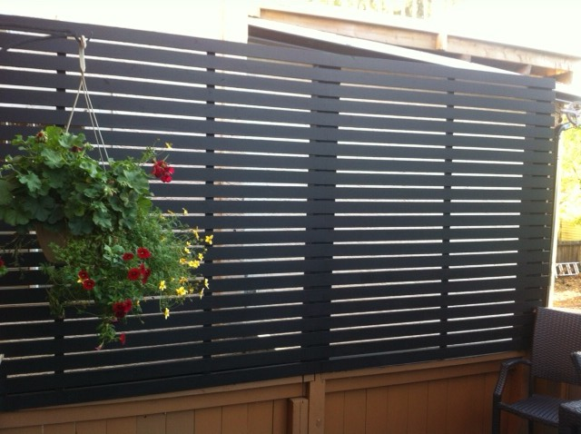 Wonderful cost of retractable screen doors 5 deck for Retractable privacy screen