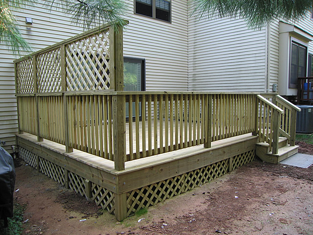 deck privacy screen lattice
