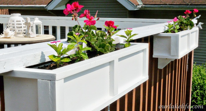 deck rail planter boxes plastic  photo - 1