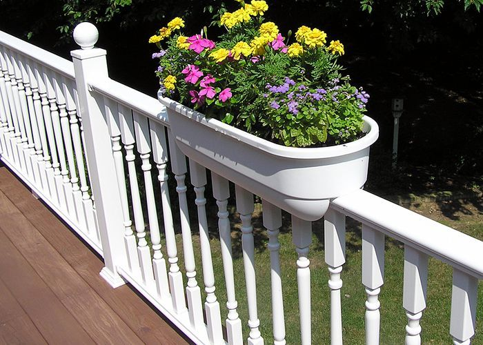 deck rail planter boxes plastic  photo - 2