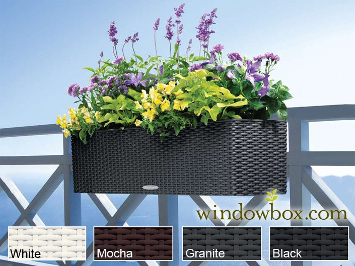 deck rail planter boxes plastic  photo - 3