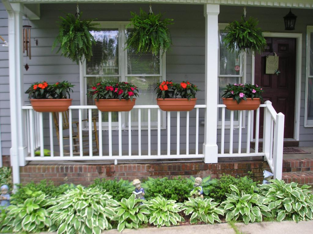 Deck Rail Planters Ideas