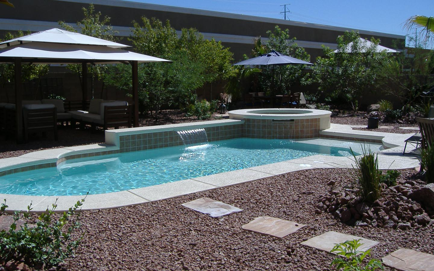 Landscape design around pool for Landscaping around pool