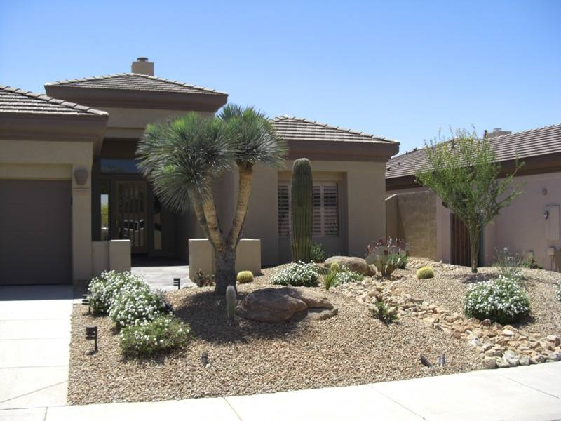 Desert Landscaping Front Yard Photo   1