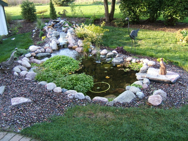 Diy Backyard Pond Kits Design And Ideas