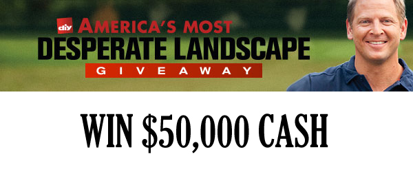 diy landscaping sweepstakes