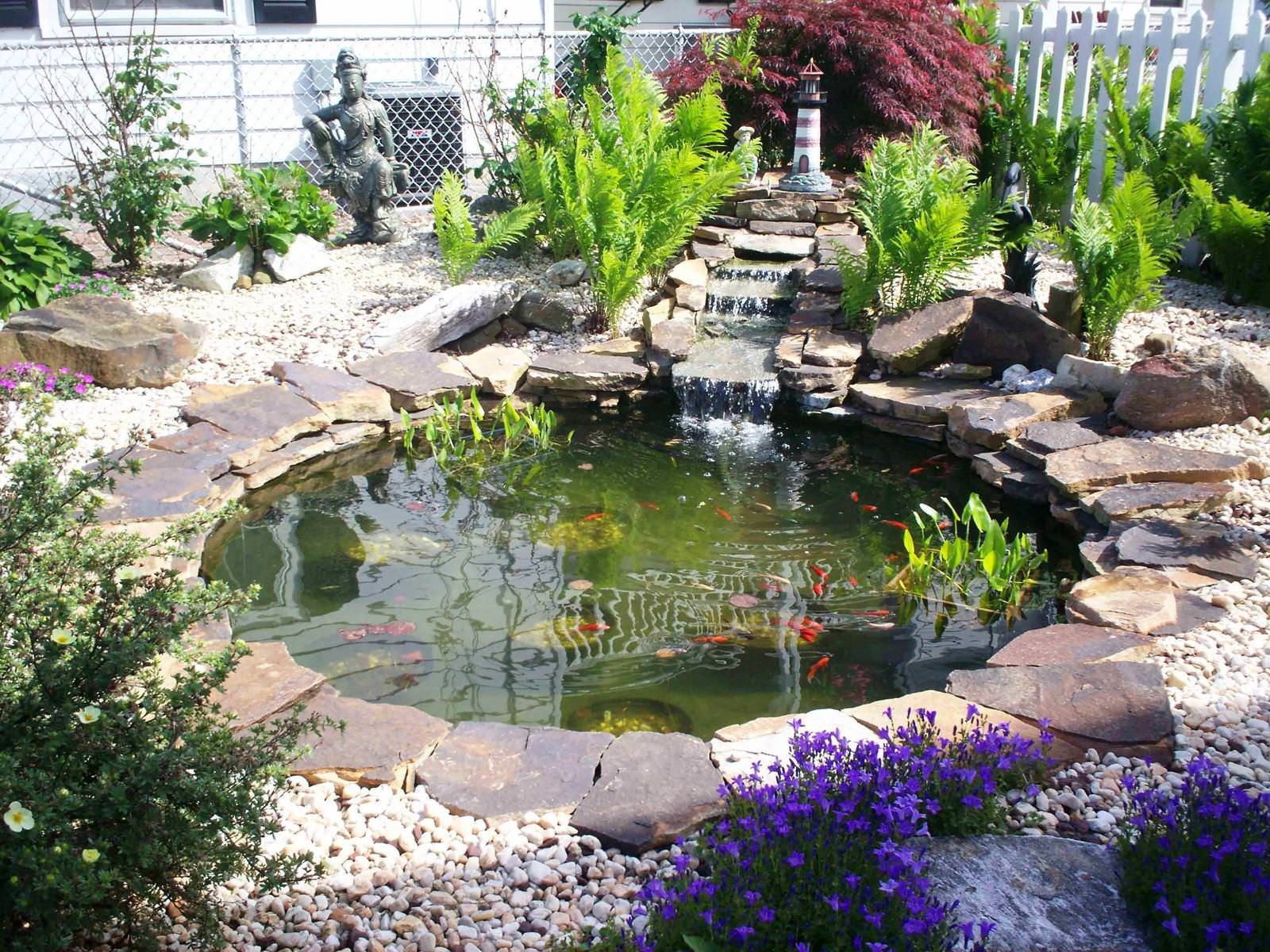 backyard pond and waterfall kits design and ideas