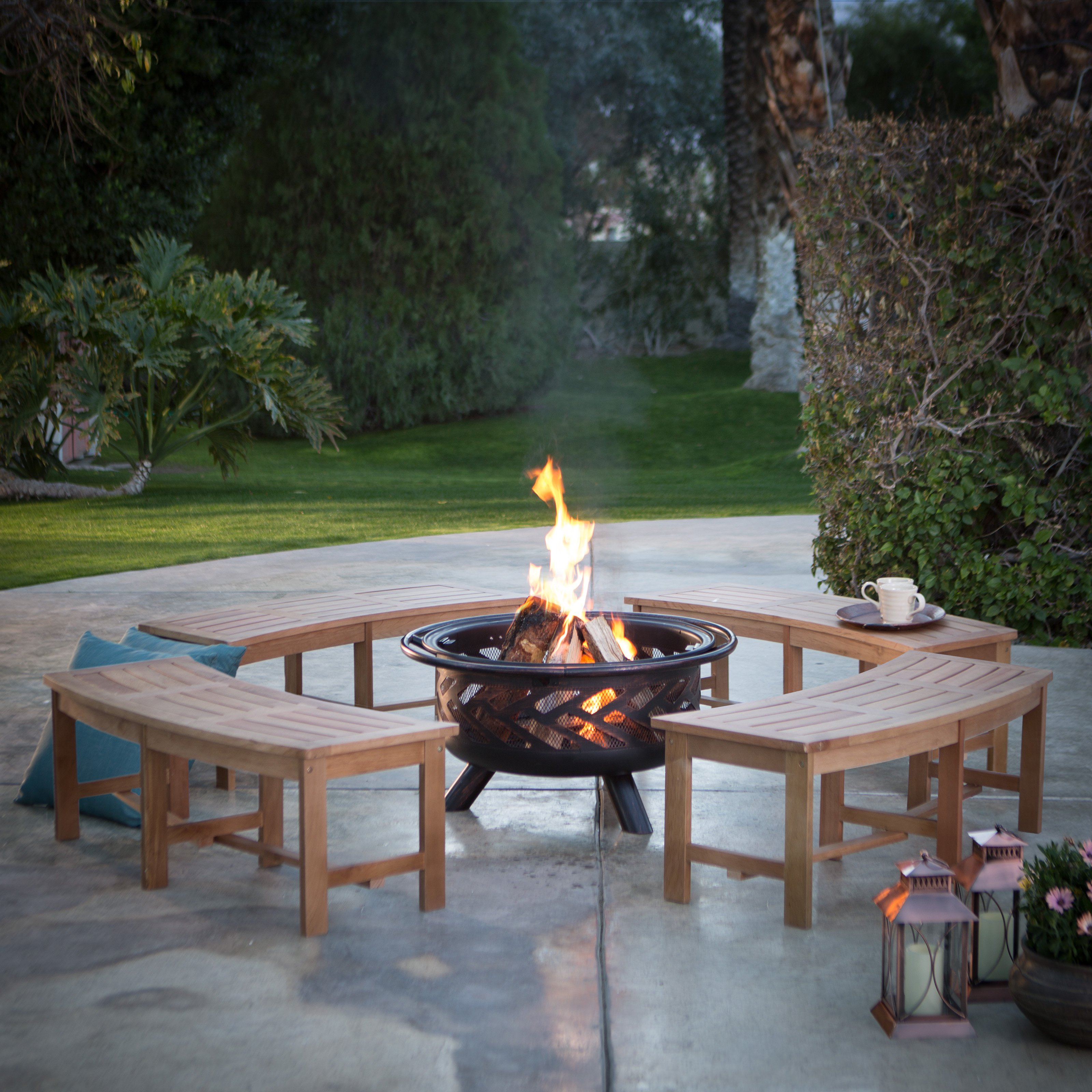 fire pit and bench set  photo - 2