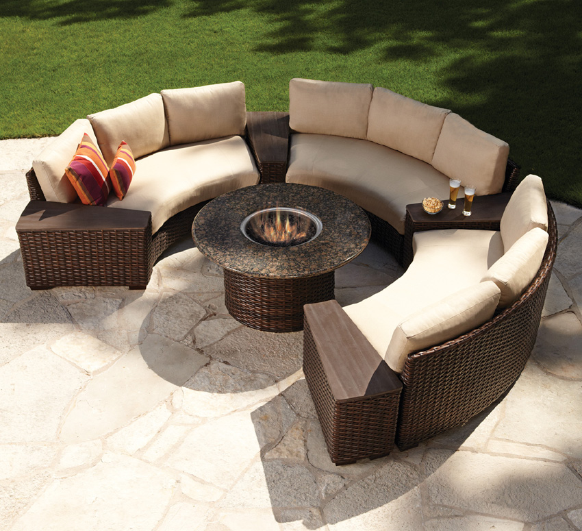 fire pit and seating set
