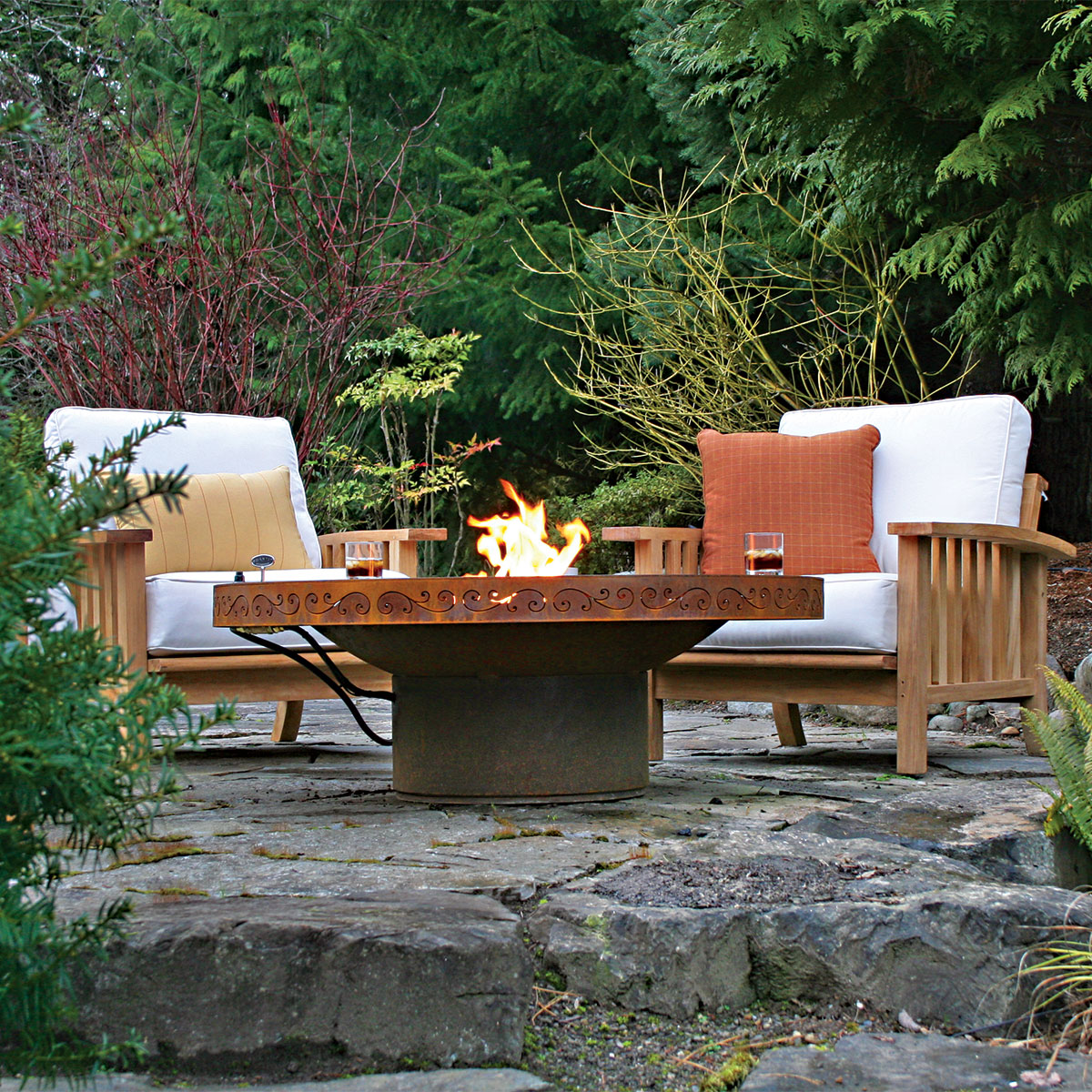 Fire pit bench designs design and ideas Fire pit benches