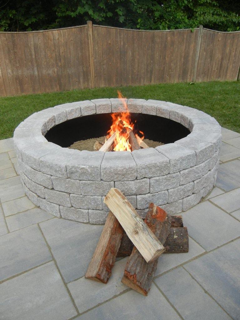 fire pit bricks rona design and ideas