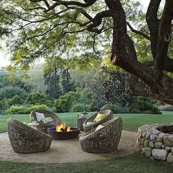 Fire pit chairs design