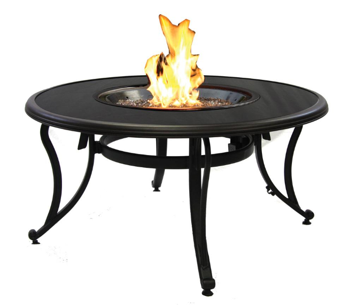 fire pit glass turns black