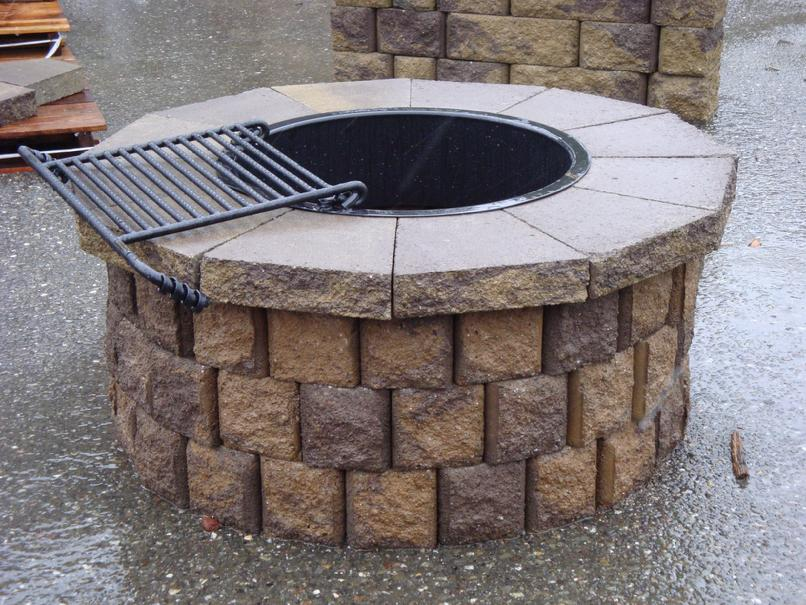 fire pit rock adhesive  photo - 2
