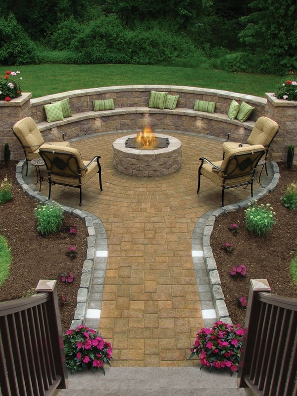 fire pit seating area ideas  photo - 2