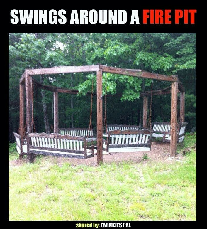 fire pit seating swing