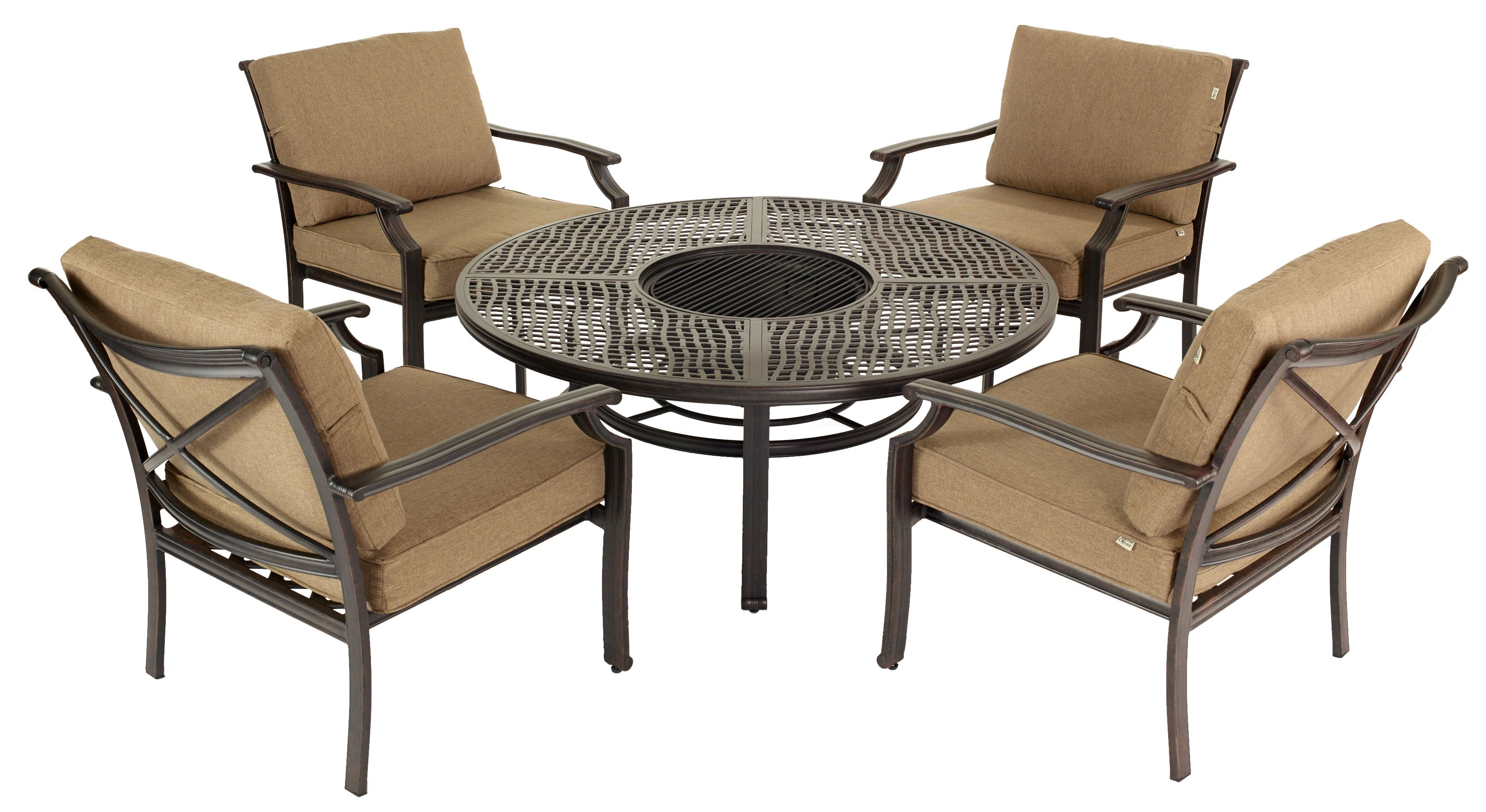 Pit Table And Chairs The Range Furniture Rubber Bronze