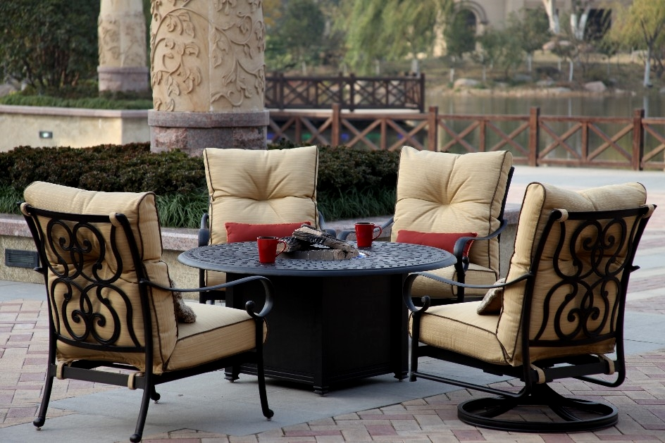 Propane Fire Pit Table And Chairs Set