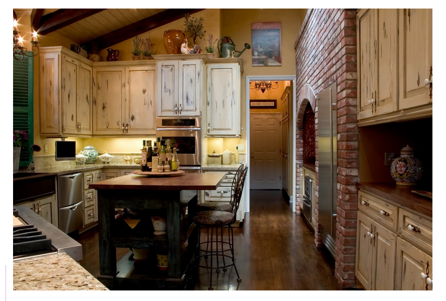 French country Chrome kitchen   photo - 2