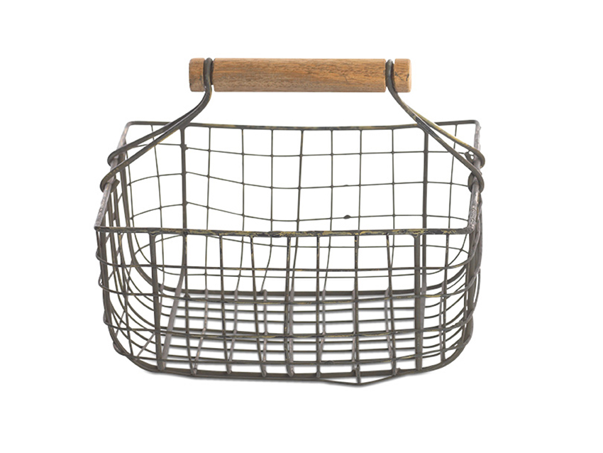 French country kitchen Baskets with over handle