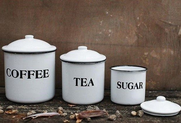 French country kitchen Canister-Tea