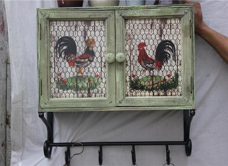 French country kitchen Distressed Hen hook