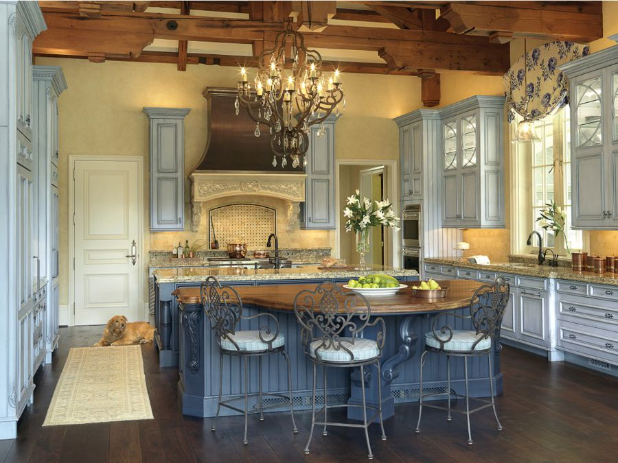 French Country Kitchen Furniture Photo