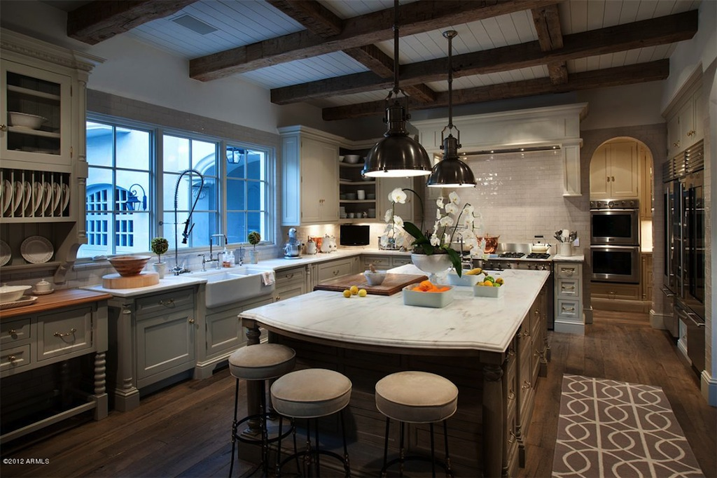 French country kitchen Indoor Grill » Design and Ideas