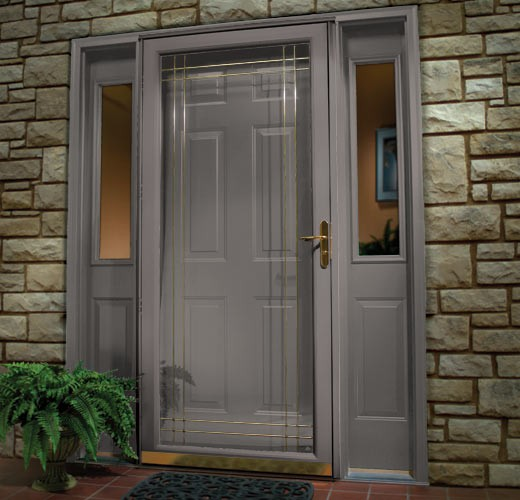 French entry door color design and ideas for Front door with storm door