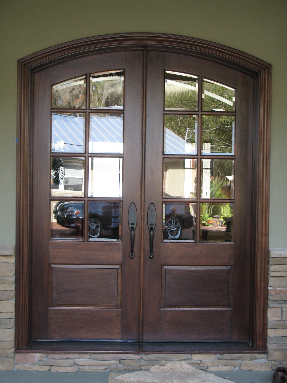 French Entry Door with Glass photo - 2