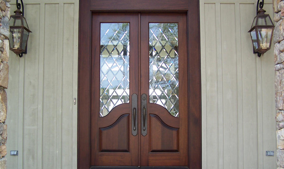 French Entry Door With Glass Design And Ideas