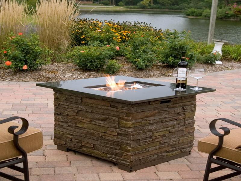 Gas Outdoor Fire Pit in Your Backyard
