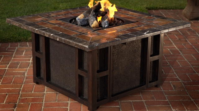 gas outdoor fire pit table  photo - 2