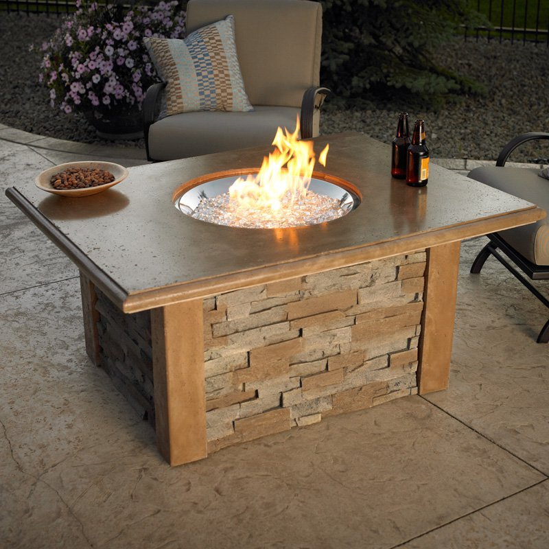 gas outdoor fire pit table