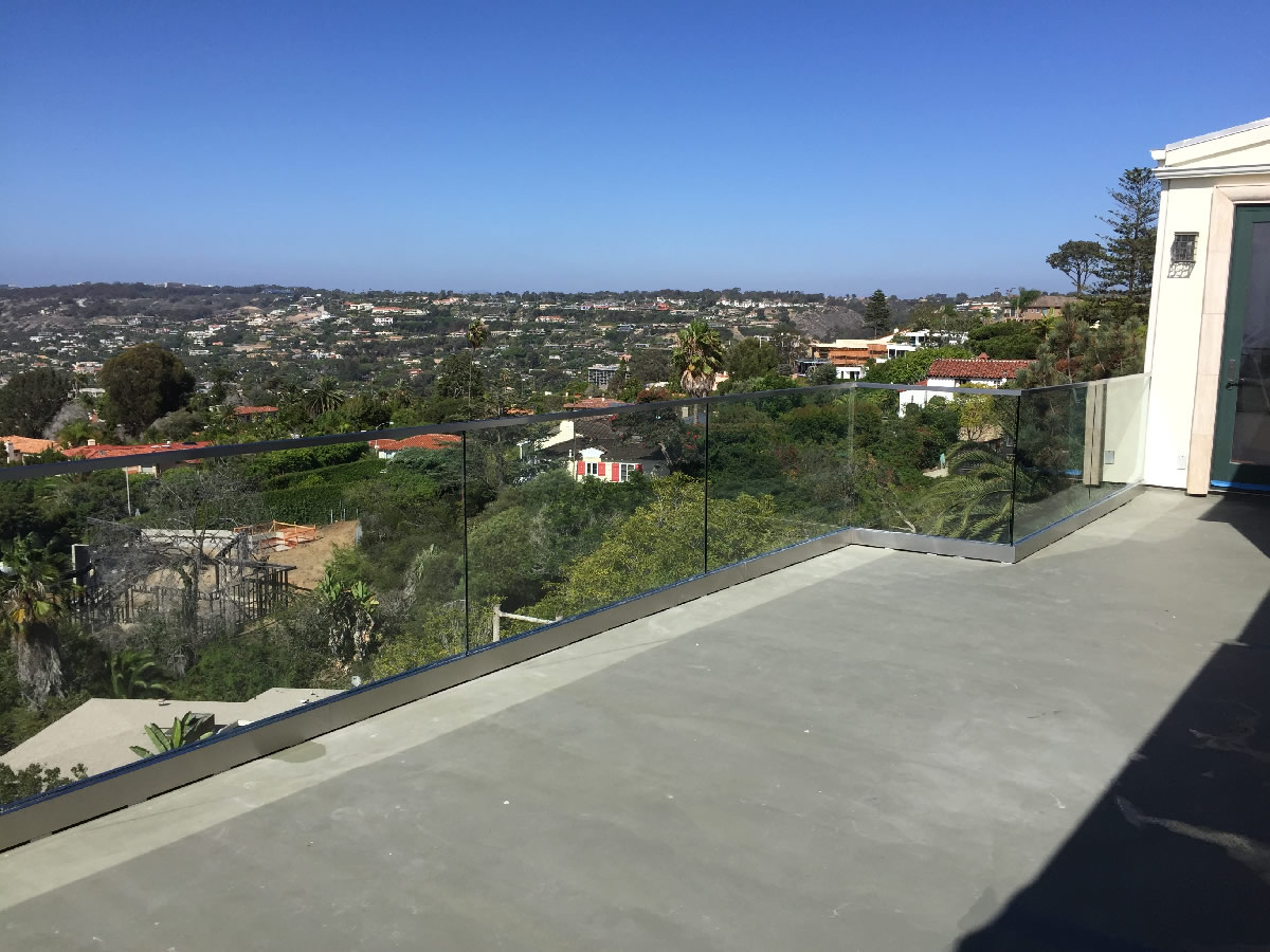 glass deck railing san diego  photo - 1