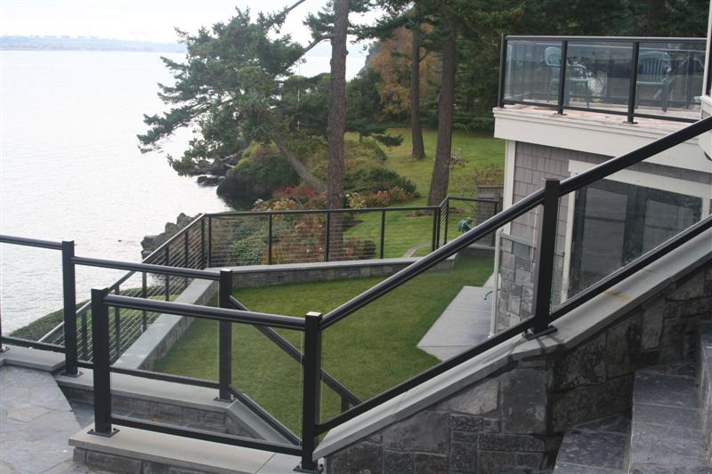 Glass deck railing lowes design and ideas