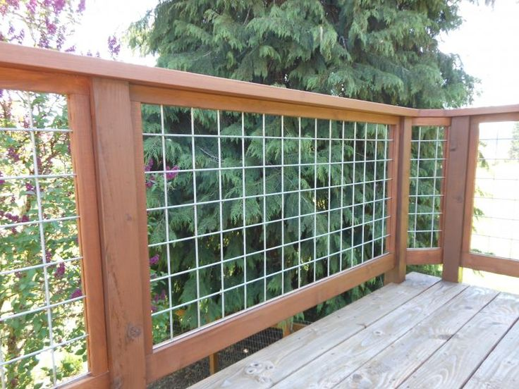 goat wire deck railing » Design and Ideas
